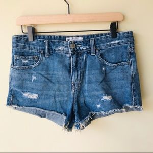 Free People denim shorts- distressed